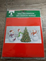 "New Christmas House Snowman Wall Decoration Vinyl Mural 30"" by 60"" - $8.77"