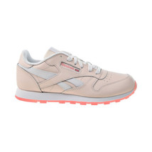 Reebok Classic Leather Big Kids' Shoes Pal Pink-White-Panton FU9216 - $45.00