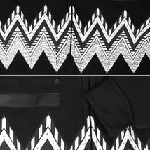EKZ Men's Graphic Geo Tribal Fleece Lined Zip Up Sherpa Hoodie Jacket image 9
