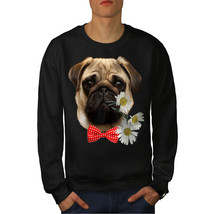 Pug Puppy Admirer Jumper Date Flower Men Sweatshirt - $18.99+