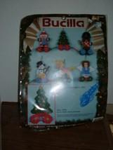 Bucilla Plastic Canvas #61157 Pull Toys 6 ornaments 1991 - $10.84