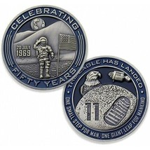 APOLLO 11 50TH ANNIVERSARY MOON LANDING THE EAGLE LANDED CHALLENGE COIN   - $23.74