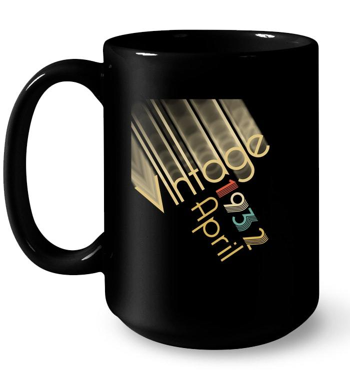 Vintage Retro Classic Born In April 1932 Gift 86 Years Old Gift Coffee Mug