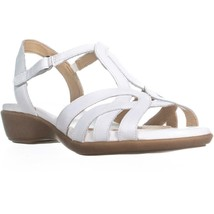 naturalizer Nella Ankle Strap Sandals, White, 6 W US - $30.71