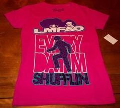 WOMEN'S TEEN  LMFAO Every Day Im SHUFFLIN T-shirt MEDIUM NEW w/ TAG PINK - $19.80