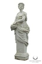 Antique Marble Spring Goddes 72 inch Garden Statue - £5,322.04 GBP