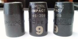 "Armstrong 46-309 3/8"" Drive 9mm Impact Socket 12pt. USA (3pcs) - $4.46"