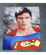 Christopher Reeve Hand Signed 8x10 Photo COA Superman - $400.00