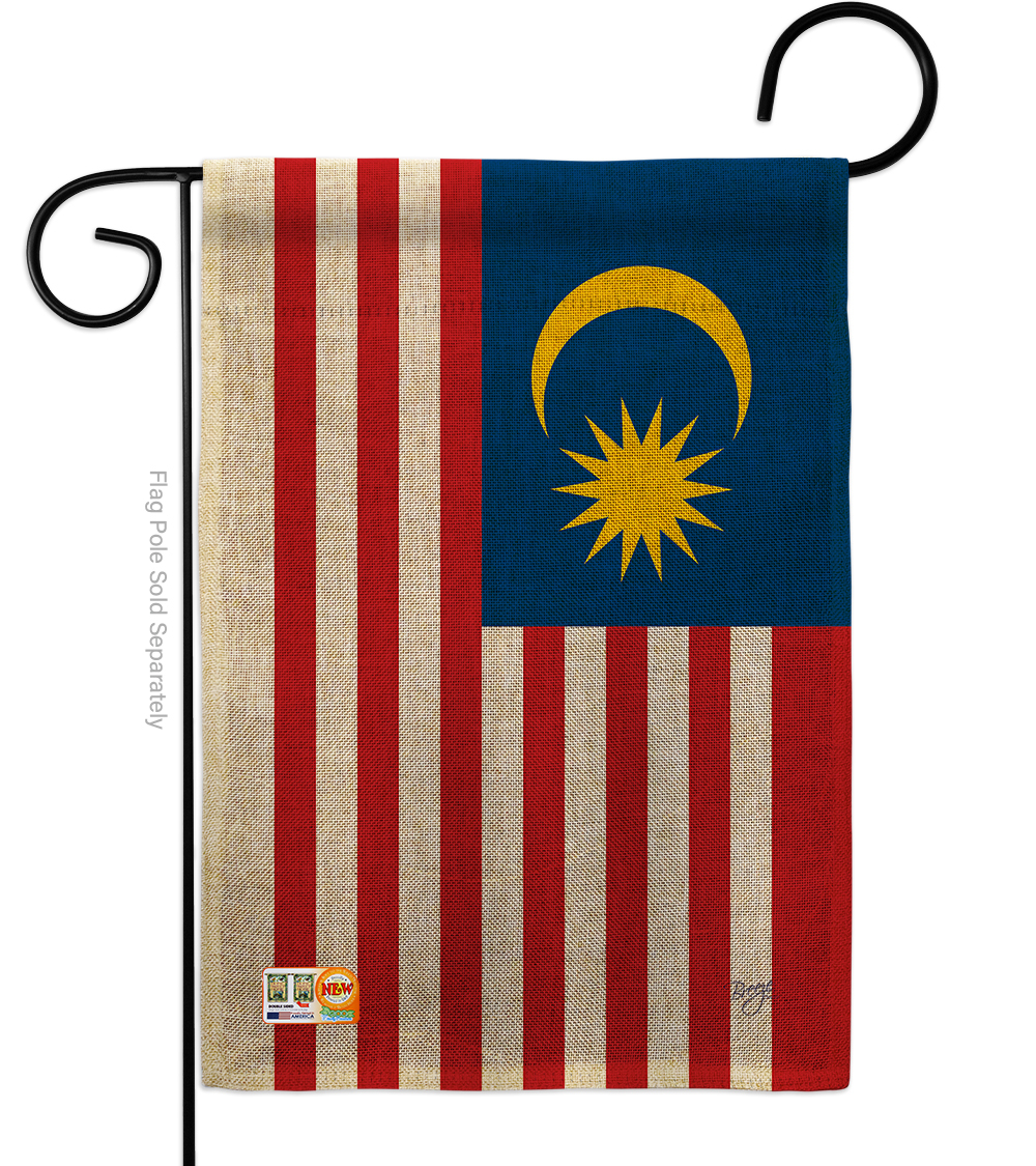Primary image for Malaysia Burlap - Impressions Decorative Garden Flag G158259-DB
