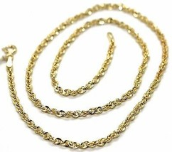 18K YELLOW GOLD ROPE CHAIN, 15.75 INCHES BRAIDED INFINITE FACETED ALTERN... - $276.00