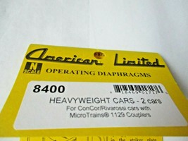 American Limited # 8400 Operating Diaphragms For Heavyweight Cars Black N-Scale image 1