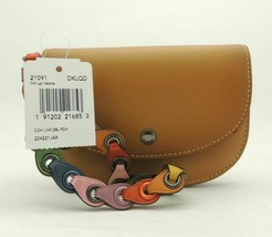 Coach 21091 Wristlet Double Pouch Glovetanned Brown Leather Mini Saddle ... - $128.69