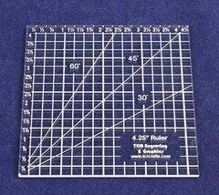 "4.25"" Square Ruler - 1/8"" - $15.99"