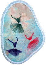 Essence of Ballet: Quilted Art Wall Hanging - $295.00