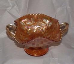 Sawtooth Marigold Carnival Glass Northwood Fruits & Flowers. 2 Handles - $12.38