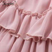 Elegant Ruffle Off Shoulder Chiffon Mini Sundress image 6