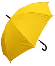 RainStoppers W032TH Auto Open European Hook Handle Arc Umbrella, Yellow,... - $20.22
