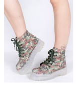 YRU Slayr Slayer Reflective Camo Punk Gothic Vegan Leather Platforms Boo... - $119.99