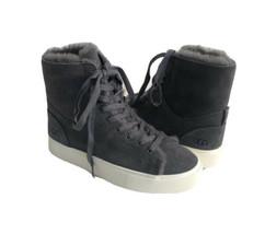 Ugg Beven Dark Grey Gray Cuffable High Top Suede Sneaker Us 6 / Eu 37 / Uk 4 - $98.18