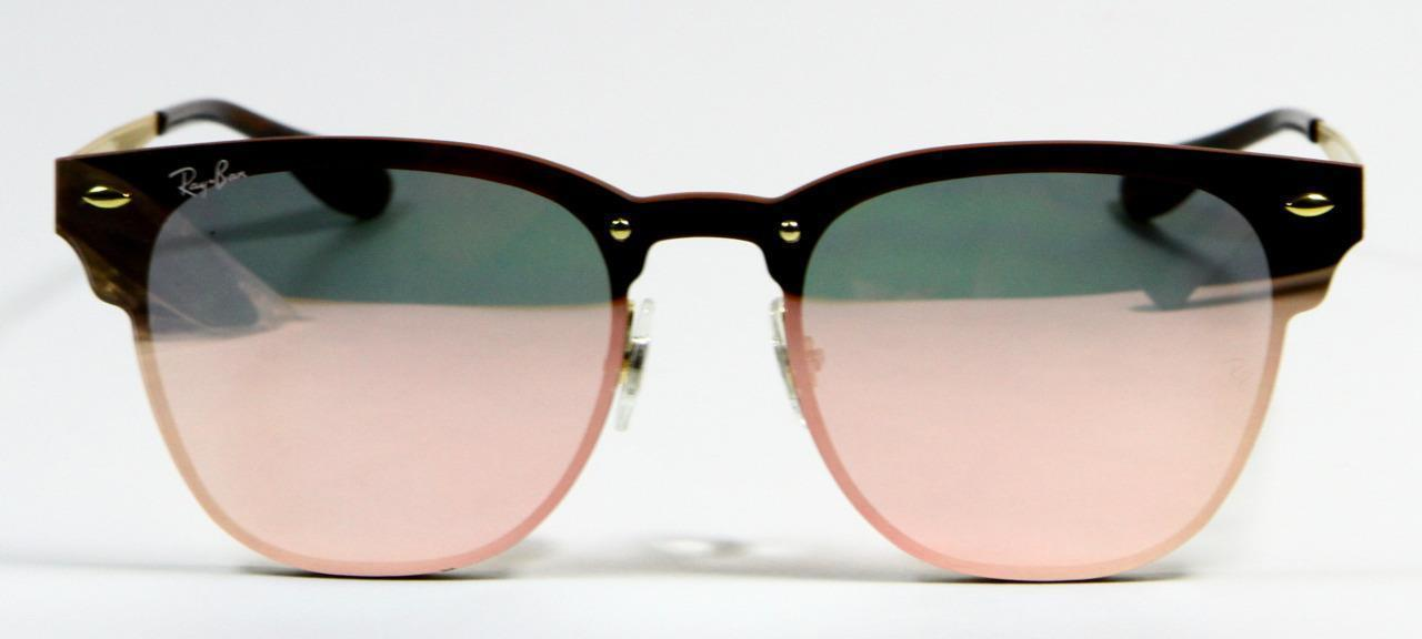 Primary image for Ray Ban 3576N 043/E4 Blaze Clubmaster Pink Mirror Gold Frame Sunglasses 47mm New
