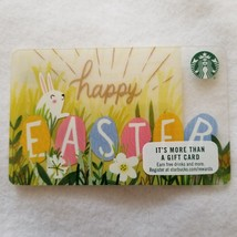 Limited Edition 2016 Starbucks Gift Card Happy Easter Bunny in Egg Flower Field - $8.00