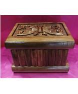 TURKISH PUZZLE MAGIC SECRET TRICK JEWELERY BOX CASE WOOD PANDORA HANDMAD... - $39.55