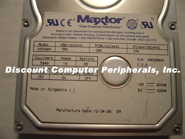 Maxtor 72700AP 2.7GB IDE 3.5in Drive 2 In stock Tested Good + Free USA Shipping