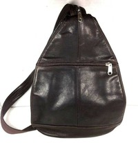 Sunset Leather Company Vintage Small Dark Brown Leather Backpack Shoulde... - $34.91