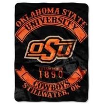 """NCAA Oklahoma State Cowboys Rebel Plush Raschel Throw, 60"""" x 80"""" - $39.95"""