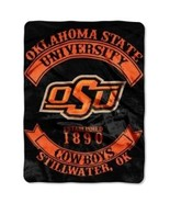 "NCAA Oklahoma State Cowboys Rebel Plush Raschel Throw, 60"" x 80"" - $39.95"
