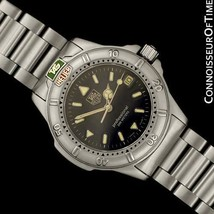 TAG Heuer Professionnel 4000 Hommes Taille Moyenne Acier Inoxydable Watch - Mint - $975.05