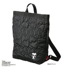 Rootote X P EAN Uts Ceoloo Quilt Black 2Way Backpack Tote Bag New Free Shipping - $83.29