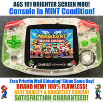 Nintendo Game Boy Advance GBA Mario Luigi System AGS 101 Brighter Backli... - $131.38