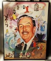 "Vintage WALT DISNEY WORLD Character FRAMED 24x18"" Artist Jeri Simpson RARE! - $188.10"