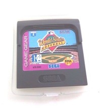 Sega Game Gear WORLD SERIES BASEBALL SEGA GENESIS 1994 - $9.85
