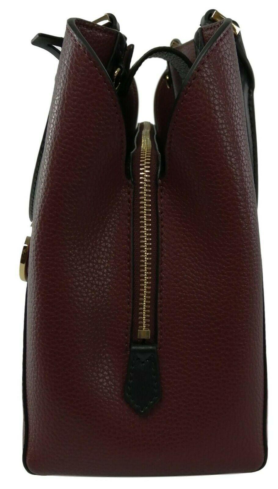 Michael Kors Cartella Top Manico Merlot pelle Rossa Kimberly Bag image 3
