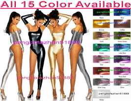 Sexy Bodysuit Costumes New 15 Color Shiny Metallic Body Suit Catsuit Cos... - $32.99