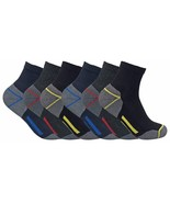 Mens Ultimate Heavy Duty Cushion Cotton Steel Toe Boot Ankle Quarter Wor... - $7.99+
