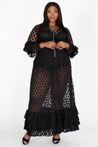 Sheer Polka Dot Dress (No Lining - Plus Size) - $65.99+