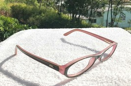 Used Ralph Lauren Brown on Pink Eyeglasses Frames RL 6012 5014 Italy 48-16 135 - $22.79