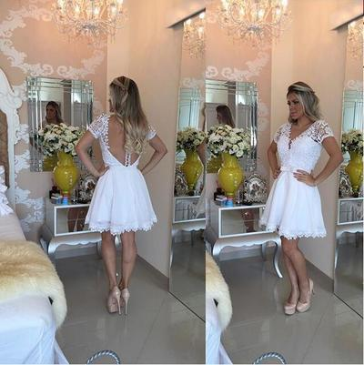 Short prom Dress,Charming Prom Dresses,White prom Dresses,homecoming dresses