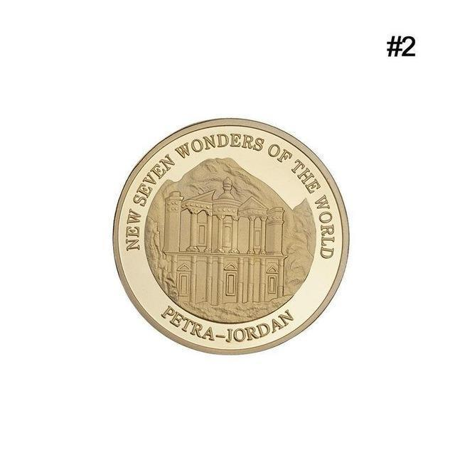 Primary image for New Seven Wonders Of The World Petra in Jordan Coin Collection Souvenir Gift