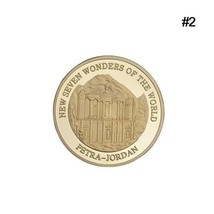 New Seven Wonders Of The World Petra in Jordan Coin Collection Souvenir ... - $11.99