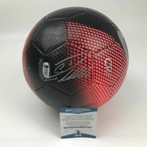 Autographed/Signed CRISTIANO RONALDO Juventus Black/Red Soccer Ball Beck... - $449.99