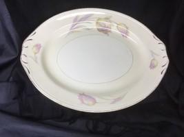 "Homer Laughlin Tulip Eggshell Nautilus Platter 13"" X 10.5"" Watercolor Look - $14.84"