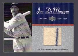 2001 Upper Deck Joe DiMaggio Game Used Jersey #84/100 Yankees - $124.99