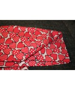 pillowcases with hearts, standard size pink and white hearts cotton with... - $11.88