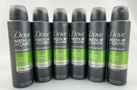6 Dove Men+Care Dry Spray Extra Fresh Antiperspirant 48h Powerful Protection - $24.18