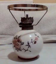 Porcelain Oil Lamp Made In Japan Rare With Out The Globe 6 X 5 - $18.70