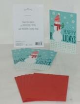 Hallmark X2121 Happy Holidays Snowman Card Red Envelope Package 6 - $6.99